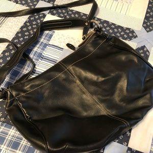 Black leather should bag